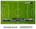 grunge soccer playing field... | Shutterstock .eps vector #108300593