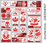 blood donor day tag and label... | Shutterstock .eps vector #1083008507