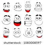 human face emotion cartoon icon ... | Shutterstock .eps vector #1083008597