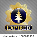 shiny emblem with christmas... | Shutterstock .eps vector #1083012953