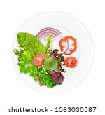 healthy vegetarian food plate...   Shutterstock . vector #1083030587