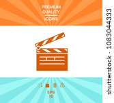 clapperboard icon symbol | Shutterstock .eps vector #1083044333