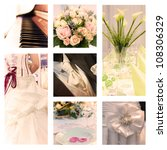 wedding collection - stock photo