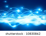 abstract particles flow. wave... | Shutterstock . vector #10830862