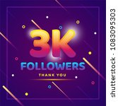 3k or 3000 followers thank you... | Shutterstock .eps vector #1083095303
