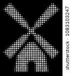 wind mill halftone vector icon. ... | Shutterstock .eps vector #1083103247