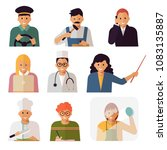 people of different professions....   Shutterstock .eps vector #1083135887