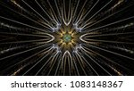 abstract intricate symmetrical... | Shutterstock . vector #1083148367