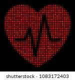 cardiology halftone vector icon.... | Shutterstock .eps vector #1083172403