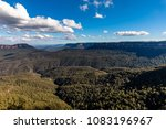 view beyond the three sisters... | Shutterstock . vector #1083196967
