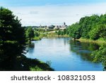 River Tweed With Town Of...