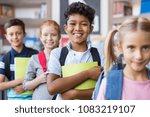 portrait of a happy multiethnic ... | Shutterstock . vector #1083219107