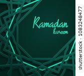 ramadan kareem greeting card...   Shutterstock .eps vector #1083248477