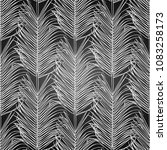 graphic palm leaf drawn in... | Shutterstock .eps vector #1083258173