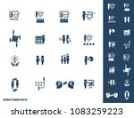 business training icon set | Shutterstock .eps vector #1083259223