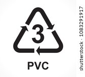 recycling symbols number 3 pvc  ... | Shutterstock .eps vector #1083291917