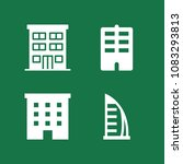 set of 4 apartment filled icons ... | Shutterstock .eps vector #1083293813