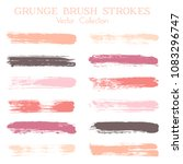 watercolor  ink or paint brush... | Shutterstock .eps vector #1083296747
