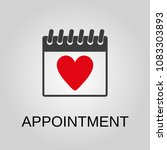 appointment icon. appointment... | Shutterstock .eps vector #1083303893