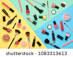 fashion cosmetic makeup set.... | Shutterstock . vector #1083313613