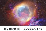 Colored Nebula And Open Cluste...