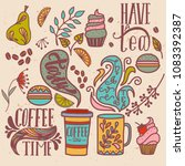 colorful vector hand drawn... | Shutterstock .eps vector #1083392387