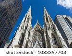 st. patrick's cathedral against ... | Shutterstock . vector #1083397703