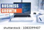business growth text on modern... | Shutterstock . vector #1083399407