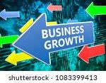 business growth   text concept... | Shutterstock . vector #1083399413