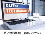 client testimonials text on... | Shutterstock . vector #1083399473
