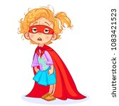 vector aweary super girl... | Shutterstock .eps vector #1083421523