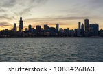 panoramic view of chicago urban ... | Shutterstock . vector #1083426863