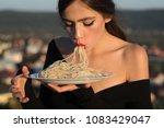 recipe of traditional italian...   Shutterstock . vector #1083429047