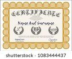 orange certificate of... | Shutterstock .eps vector #1083444437
