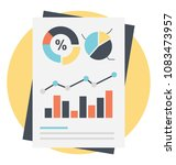 business reporting and... | Shutterstock .eps vector #1083473957
