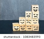 different emotions drawn on... | Shutterstock . vector #1083483593