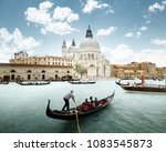 grand canal and basilica santa... | Shutterstock . vector #1083545873