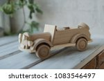 wooden toys  wooden plane and... | Shutterstock . vector #1083546497
