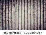 zinc wall background textured. | Shutterstock . vector #1083554057