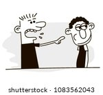 angry man yells at another ... | Shutterstock .eps vector #1083562043