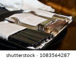 knifes  spoons and forks are... | Shutterstock . vector #1083564287