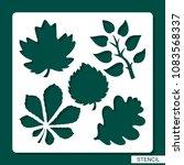 stencil. flower theme....   Shutterstock .eps vector #1083568337