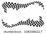 checkered racing flag isolated... | Shutterstock .eps vector #1083586217