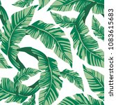 tropical seamless pattern with... | Shutterstock .eps vector #1083615683