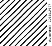 black and white diagonal hand... | Shutterstock .eps vector #1083619577