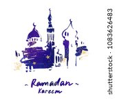 ramadan kareem holiday greeting ... | Shutterstock . vector #1083626483