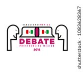 presidential debate. elections... | Shutterstock .eps vector #1083628367