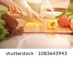 close up of human hands cooking ... | Shutterstock . vector #1083643943