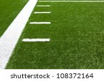 American Football Field Yard Lines with room for copy - stock photo