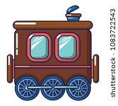 three wheel wagon icon. cartoon ... | Shutterstock .eps vector #1083722543